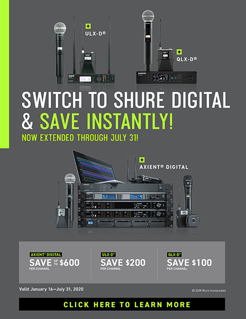 Shure Digital Rebate promo