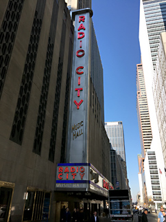 Batman V Superman premiere Radio City Music Hall marquee