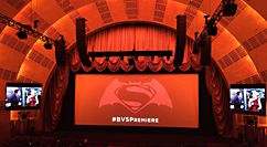 Batman V Superman Radio City premiere screen