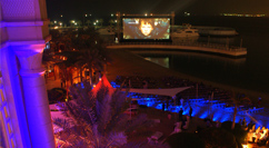 Doha Tribeca Film Festival wharf screen