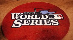 2013 World Series logo on Fenway field