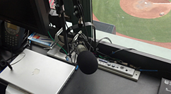 Fenway Park sound booth
