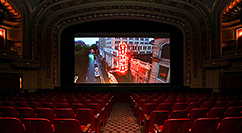 Tivoli Theatre screen with streetscape