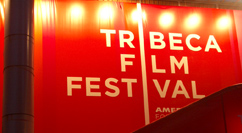 Tribeca Film Festival sign