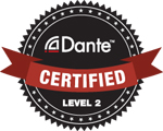 Audinate Dante Certification Level 2 logo