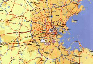 Boston area map