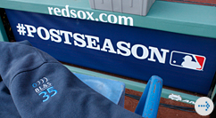 MLB postseason logo and BL&S jacket logo