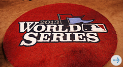 World Series 2013 logo on field
